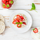Healthy Snack from Rice Cakes with Ricotta and Strawberries - PhotoDune Item for Sale
