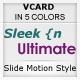 Sleek n Ultimate VCARD - IN 5 UNIQUE COLORS Nulled