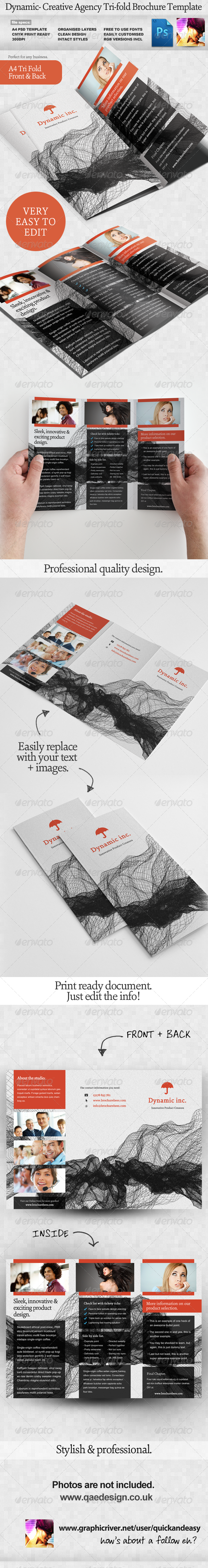 Dynamic Tri-fold Brochure Template - Corporate Brochures