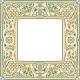Victorian Floral Square Frame