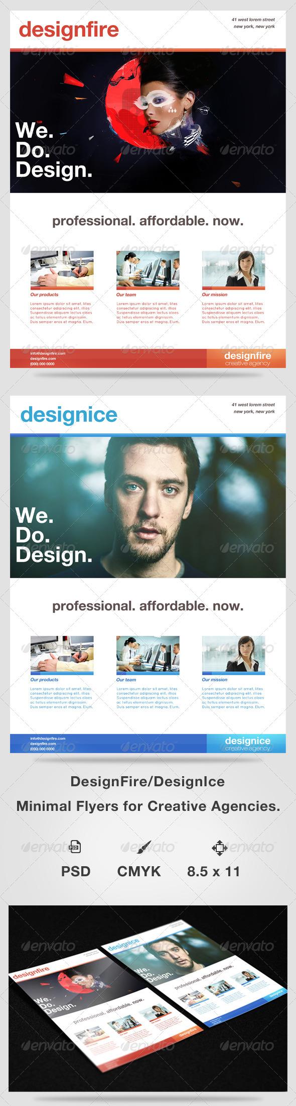 DesignFire/ DesignIce Minimal Flyers - Corporate Flyers