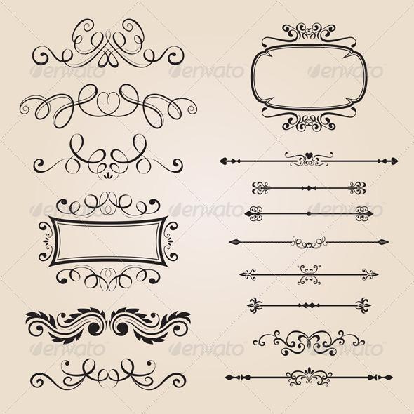 Classic Border Ornament - Decorative Vectors