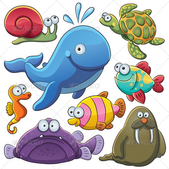 Sea Animals Collection - Animals Characters