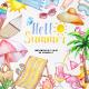 Watercolor Summer Clipart