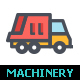 Machinery Line with Color