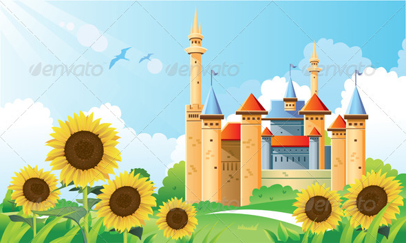 Summer Castle Background - Landscapes Nature