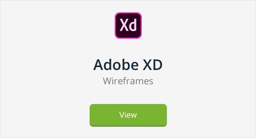 Adobe XD Wireframes