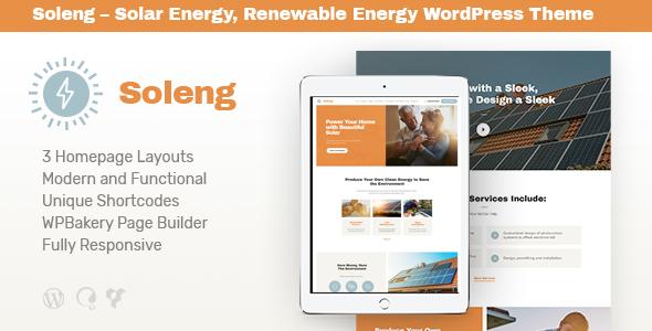 Soleng   A Solar Energy Company WordPress Theme