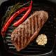 Keto ketogenic diet medium beef steak, fried striploin on grill pan. Paleo food - PhotoDune Item for Sale