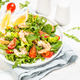 Shrimp salad with vegetables and leaves - PhotoDune Item for Sale