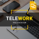 TELEWORK - Remote Working Clean Business Presentation Google Slides Template