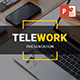 TELEWORK - Remote Working Clean Business Presentation Powerpoints Template