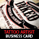 Tattoo Artist Business Card PSD Template - GraphicRiver Item for Sale