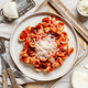 South italian  pasta orecchiette with tomato sauce and cacioricotta cheese - PhotoDune Item for Sale
