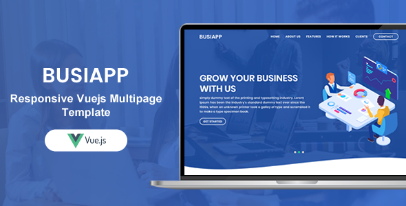 Busiapp | Responsive Vuejs Multi Purpose Multi Pages Template