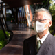 Mature Japanese businessman with mask and face shield thinking outdoors - PhotoDune Item for Sale