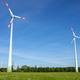 Modern wind turbines with a clear blue sky - PhotoDune Item for Sale
