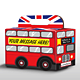 Bus in a Box; Red Double Decker London Bus - GraphicRiver Item for Sale