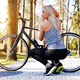 Female posing near bicycle. - PhotoDune Item for Sale