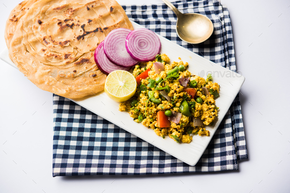 Paneer Bhurji - Stock Photo - Images