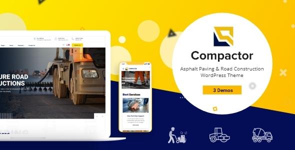 Compactor - Road Construction WordPress Theme