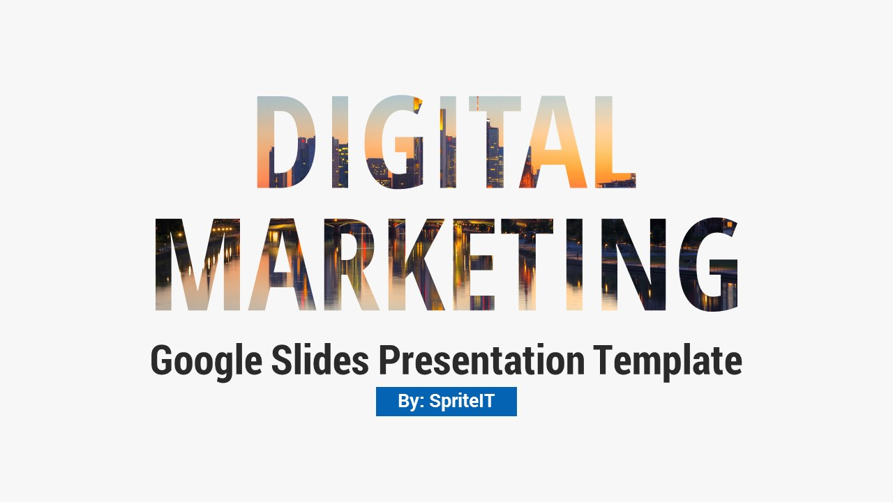 Digital Marketing And Social Media Google Slides Pitch Deck By Spriteit