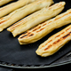 Grilled cheese puff pastry on the grill gas outdoor. - PhotoDune Item for Sale
