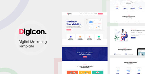 Exceptional Digicon-Digital Marketing Bootstrap Template