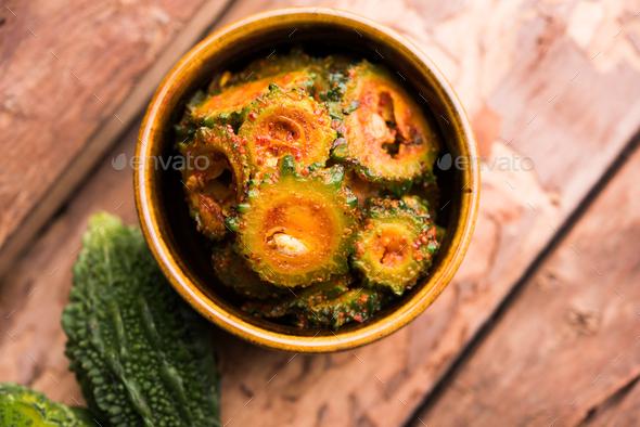 Karela Achar / Bitter Gourd Pickle - Stock Photo - Images