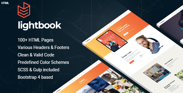 Lightbook - book author promo HTML template
