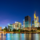 Skyline of Frankfurt at the Main river at night - PhotoDune Item for Sale
