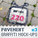 Pavement Tiles - 3 Graffiti Street Art Mockups - GraphicRiver Item for Sale