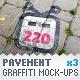 Pavement Tiles - 3 Graffiti Street Art Mockups - GraphicRiver Item for Sale