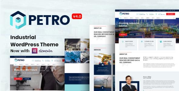 Petro - Industrial Company WordPress Theme