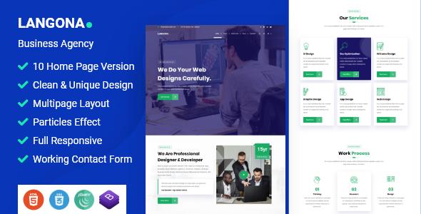 Langona - Business Agency HTML Template