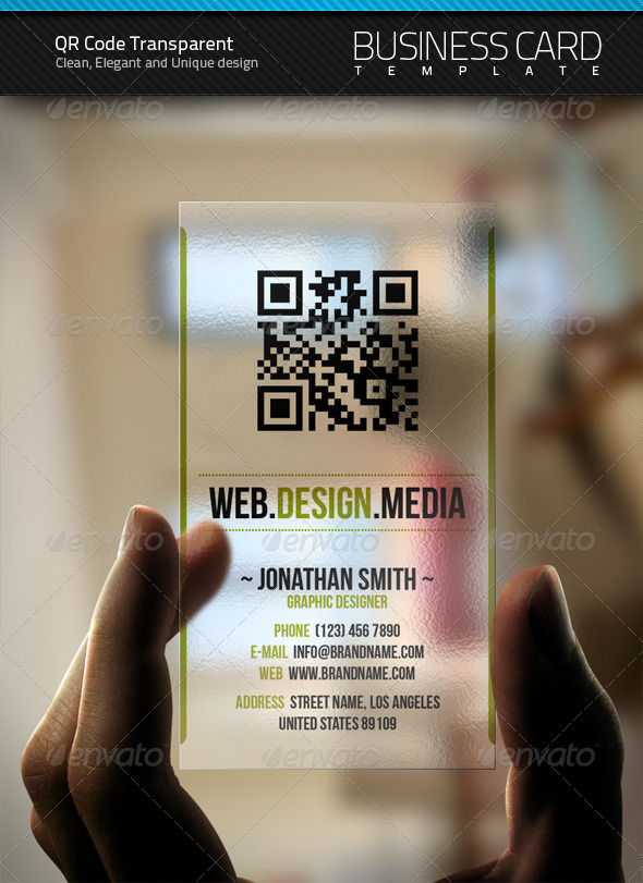 Qr Transparent Business Card By Artnook Graphicriver