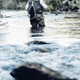 Fly fisherman using flyfishing rod. - PhotoDune Item for Sale
