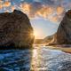 Fyriplaka beach on sunset, Milos island, Cyclades, Greece - PhotoDune Item for Sale