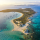 Aerial view over the clear beach and turquoise water of Formentera, Ibiza - PhotoDune Item for Sale