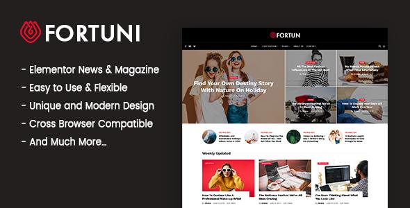Fortuni - WordPress Blog & Magazine Theme
