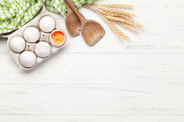Cooking utensils and ingredients - Stock Photo - Images