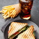 Club sandwich, potato fries and cola - PhotoDune Item for Sale
