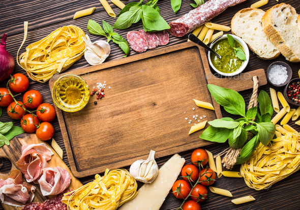 Italian traditional food and appetizers - Stock Photo - Images