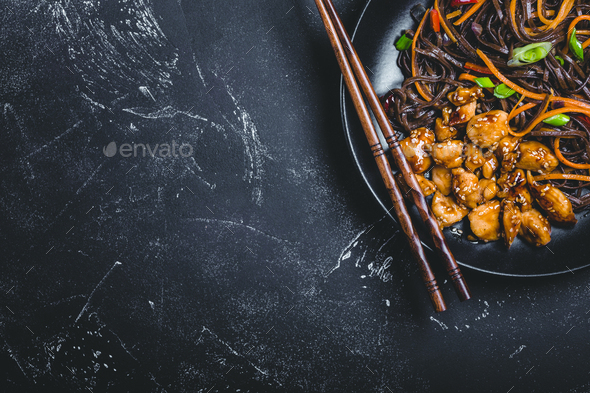Asian style noodles - Stock Photo - Images