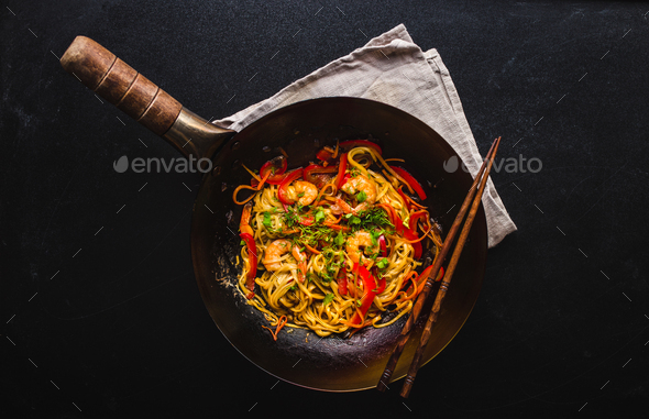 Stir fry noodles - Stock Photo - Images