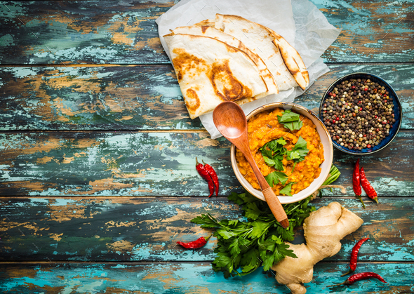 Traditional Indian lentils Dal - Stock Photo - Images