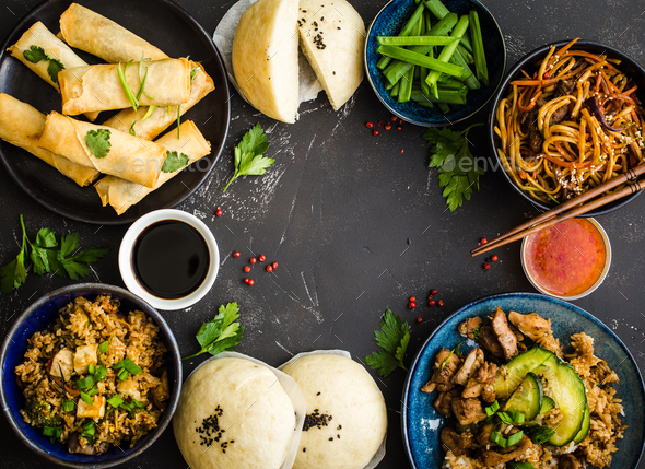 Asian assorted food set - Stock Photo - Images