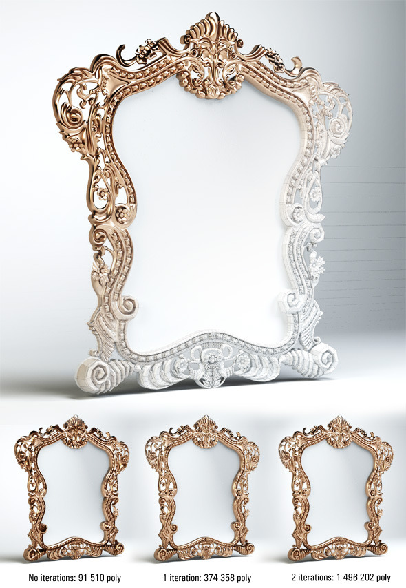 Quality 3dmodel of classic mirror klasik mobilya - 3DOcean Item for Sale