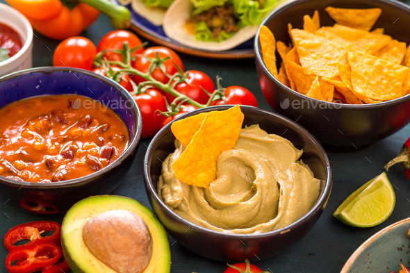 Mixed mexican food - Stock Photo - Images