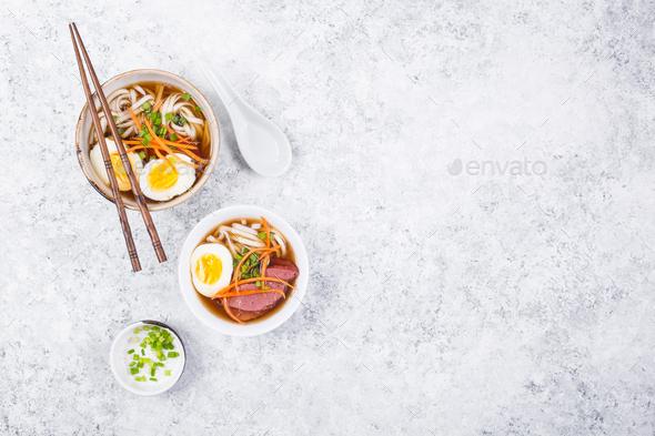 Japanese ramen bowl - Stock Photo - Images